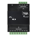This module adds 11 monitoring inputs ON/OFF, to monitor more elements in the street lighting cabinet.  Compact, it is equivalent to 4 modules and it can be easily installed on DIN Rail of the street lighting cabinet.  Easy connection with the control unit.